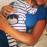 Jamie-Lynn Sigler enjoyed some cuddle time with baby Beau. Source: Instagram user jamielynnsigler