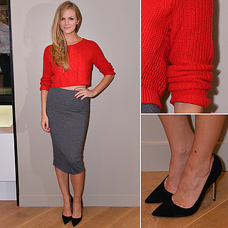 Brooklyn Decker Express Opening Red Sweater