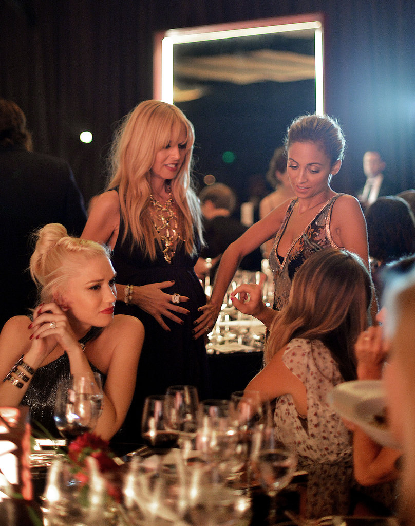 Gwen Stefani, Rachel Zoe, Jennifer Meyer, and Nicole Richie enjoyed some girl talk at the Annenberg Gala.