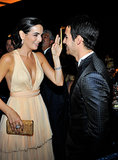 Camilla Belle and Joe Jonas mingled at the Annenberg Gala.