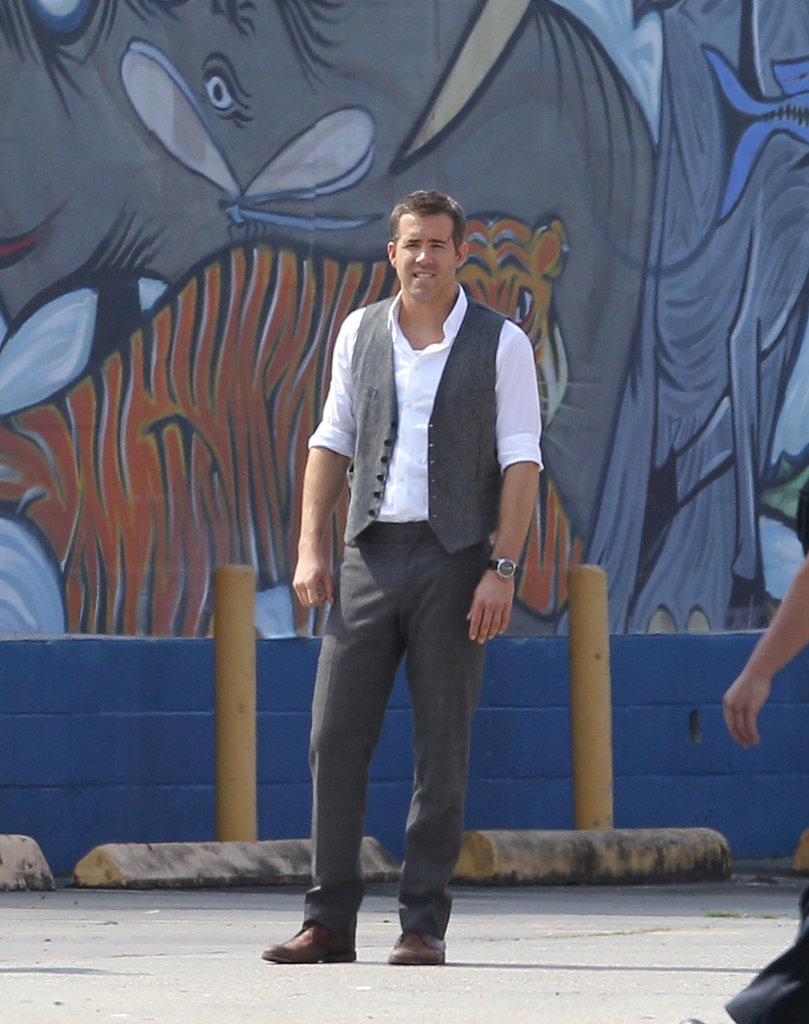 Ryan Reynolds got to work on his newest project, Selfless, on Wednesday in New Orleans.