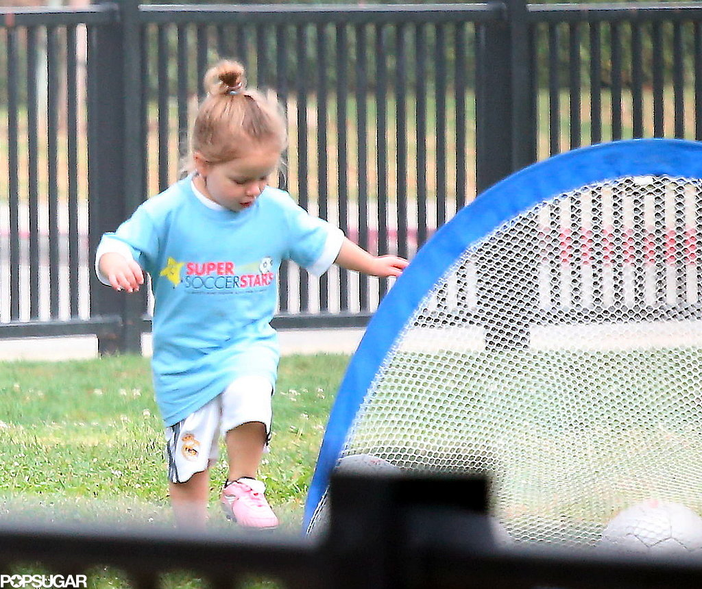 David Beckham and Victoria Beckham cheered on their daughter, Harper, when she played soccer in LA.