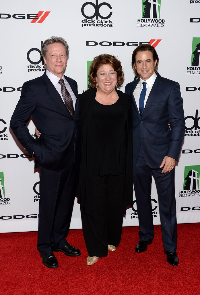 Chris Cooper, Margo Martindale, and Dermot Mulroney made a great red carpet trio at the Hollywood Film Awards on Monday.
