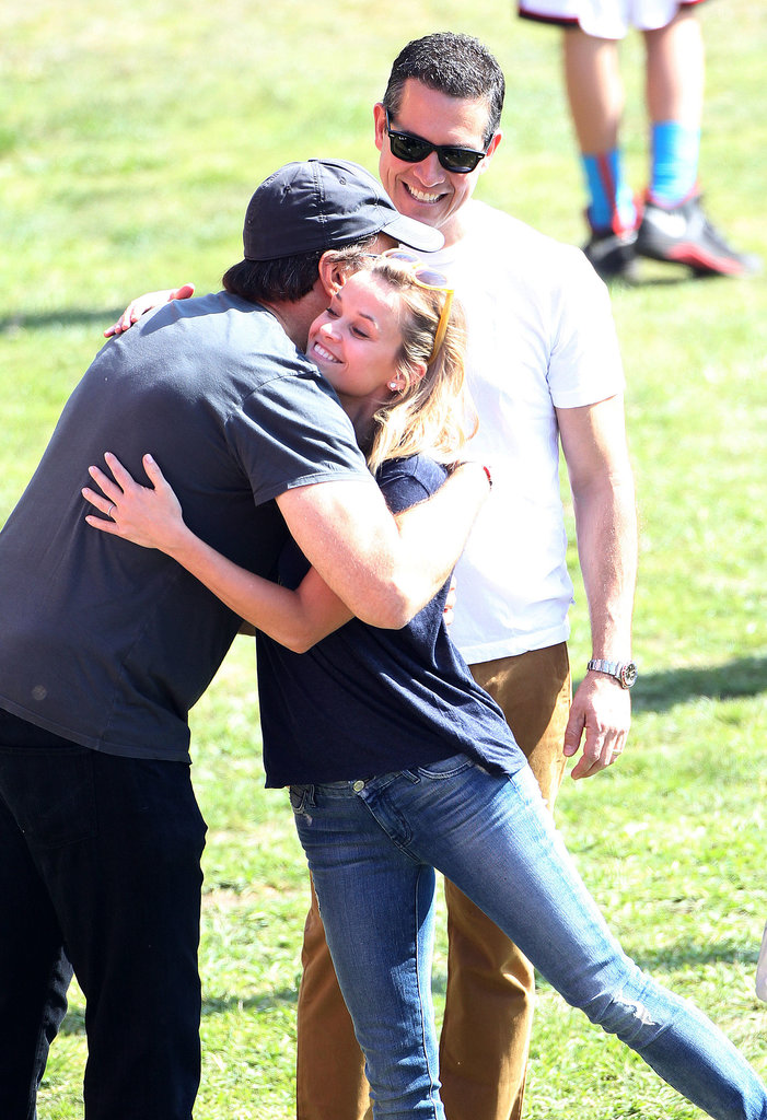 Reese Witherspoon greeted Kevin Nealon.