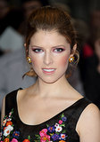 At the screening of Drinking Buddies, Anna Kendrick went for a purple eye shadow shade to complement her floral gown.