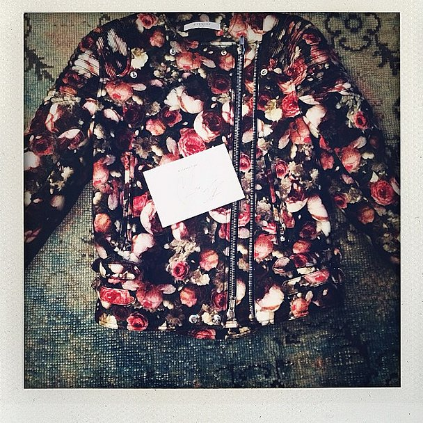 Christmas came early when Nicole Richie was gifted Givenchy's floral design. Source: Instagram user nicolerichie