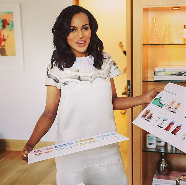 Could Neutrogena have picked a more stylish consultant than Kerry Washington? Based on this Giambattista Valli-clad shot, we think not! Source: Instagram user kerrywashington
