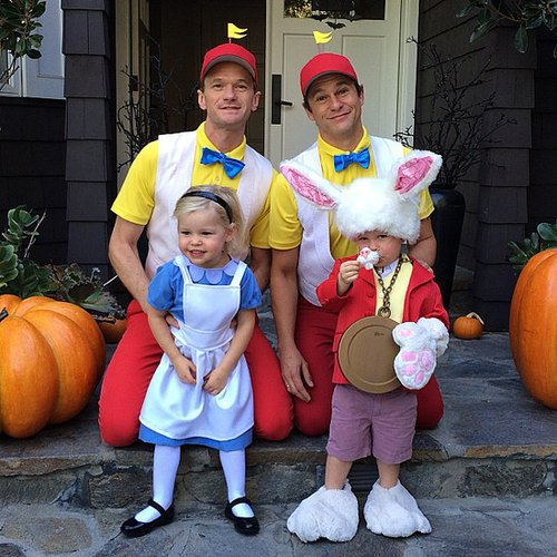 The Alice in Wonderland Gang Neil Patrick Harris and David Burtka also went as Tweedledee and Tweedledum, plus they dressed up the kids, too! Source: Instagram user instagranph