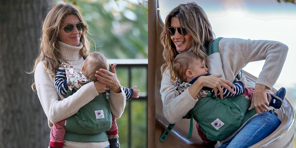 Gisele Bundles Up With Babies After Baring It All