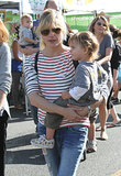 Selma Blair visited an LA farmers market with her son, Arthur, on Sunday.
