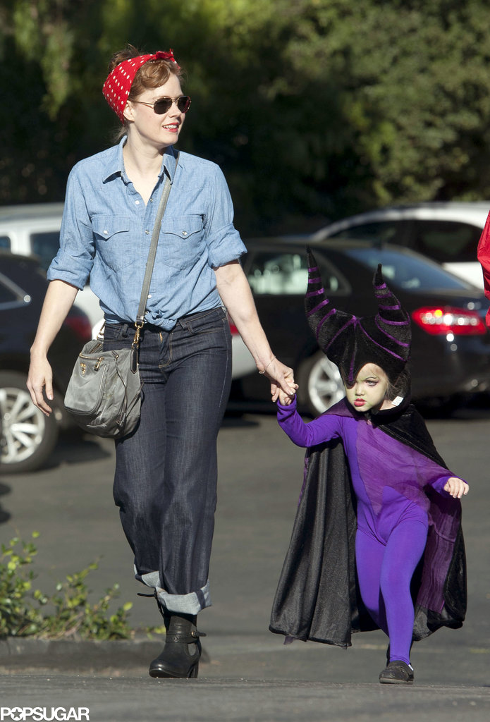 Amy Adams escorted her daughter, Aviana, to an LA costume party on Saturday.