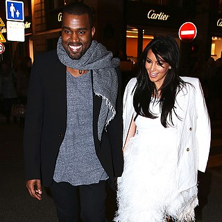 Kim Kardashian and Kanye West Shopping in Paris