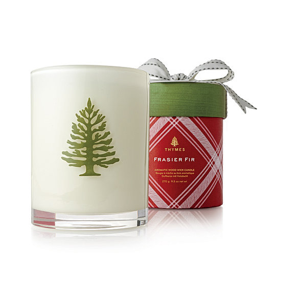 For the person who can't have a real tree for Christmas, Thymes Fraiser Fir Holiday Wood Wick Candle ($40) is the perfect substitute.