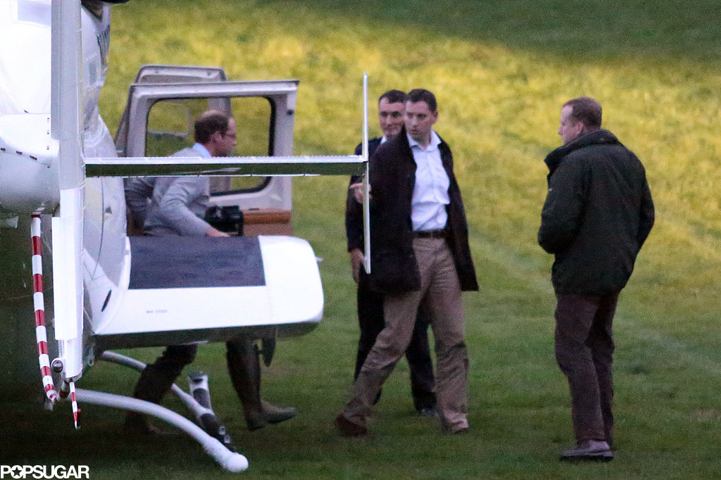 Exclusive: Prince William Takes the Chopper Back to Baby George
