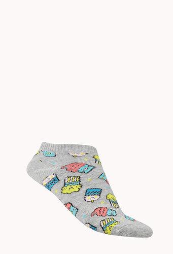 FOREVER 21 Sweet Ankle Socks