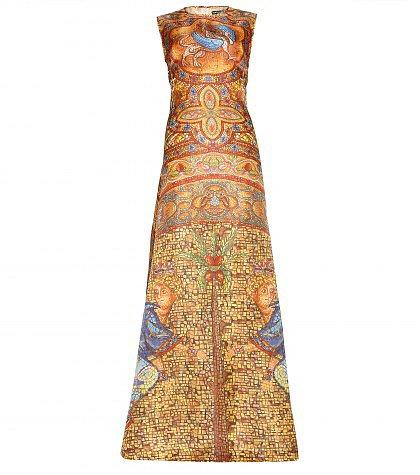 Dolce & Gabbana - Printed silk-organza gown