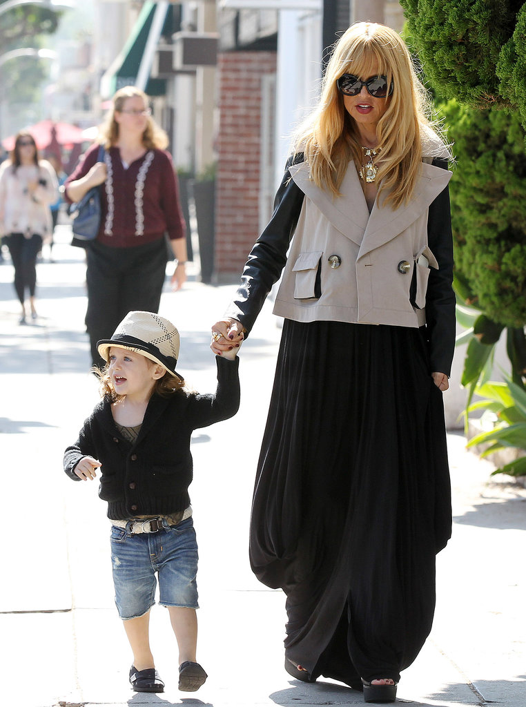 Rachel Zoe held hands with Skyler Berman.