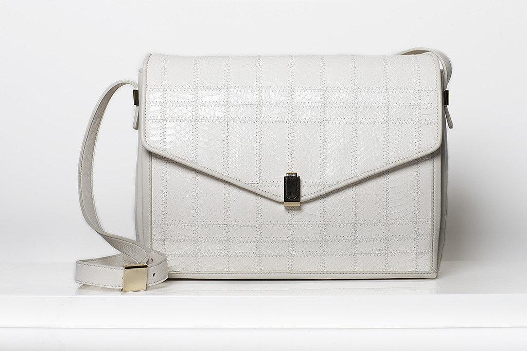 Pleasure Watersnake Shoulder Bag in Cream ($1,295) Photo courtesy of Tamara Mellon