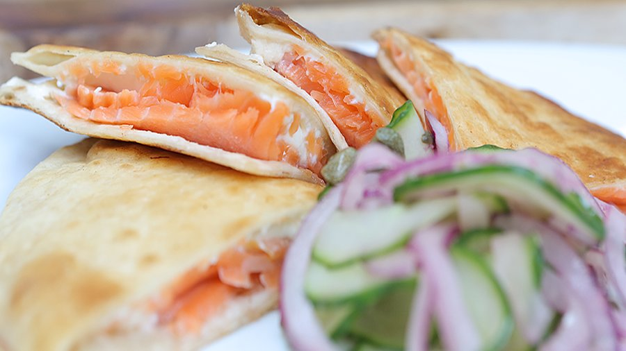 Smoked Salmon Quesadilla