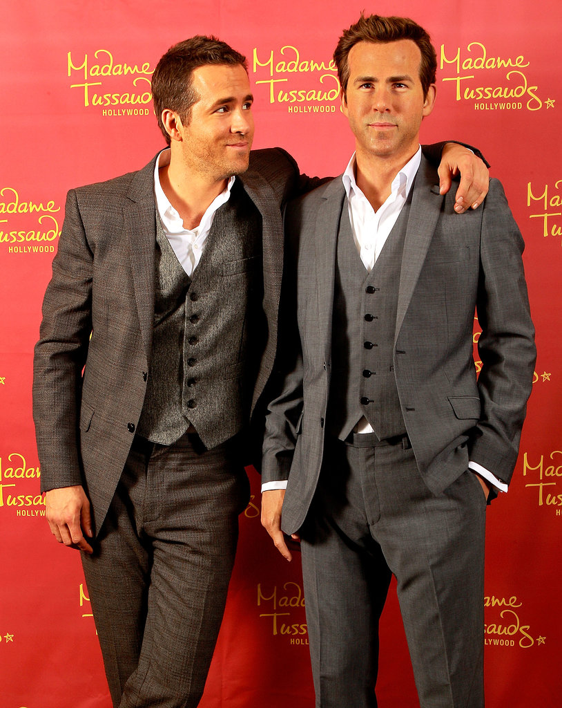 Ryan Reynolds celebrated his birthday in Oct. 2013 by meeting his wax figure in New Orleans, LA.