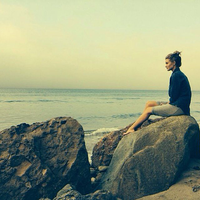 Rosie Huntington-Whiteley woke up early to catch the sunrise in Malibu. Source: Instagram user rosiehw