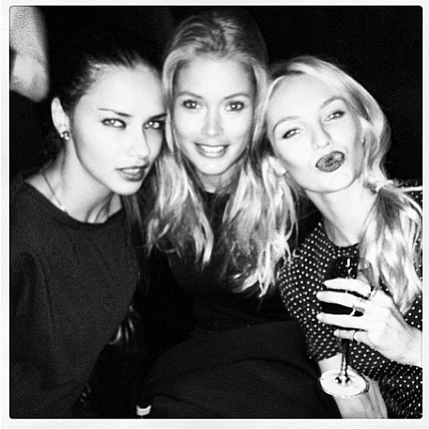 Candice Swanepoel partied with Adriana Lima and Doutzen Kroes at her birthday party in NYC. Source: Instagram user angelcandices