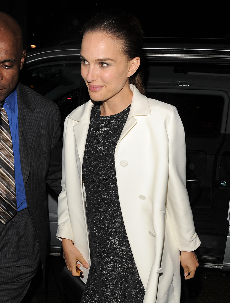 Natalie Portman made her entrance at the Thor: The Dark World premiere afterparty in London on Tuesday.