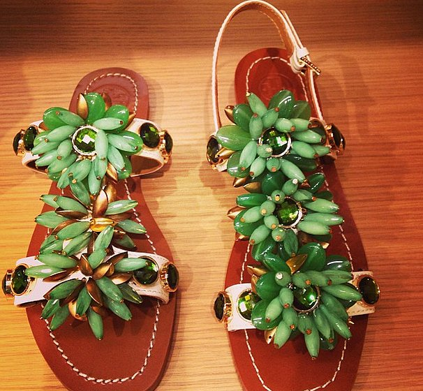 It's almost impossible to not smile when you look at these Tory Burch sandals.