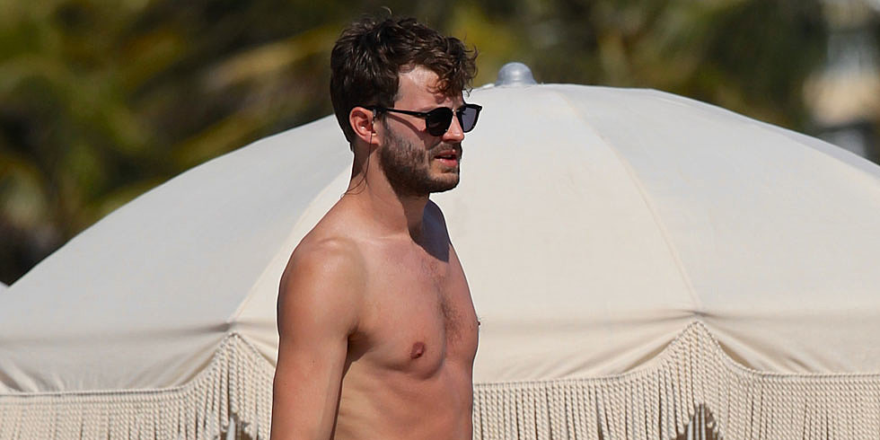 Shirtless Jamie Dornan Already Has Christian Grey's Beach Body