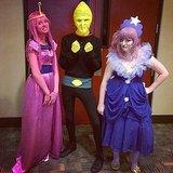 Princess Bubblegum, Earl of Lemongrab, and Lumpy Space Princess.