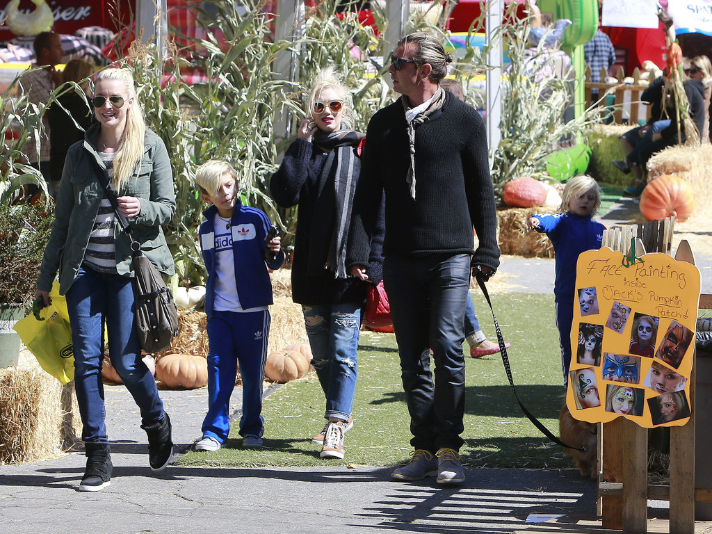 Gwen Stefani With Kingston and Zuma