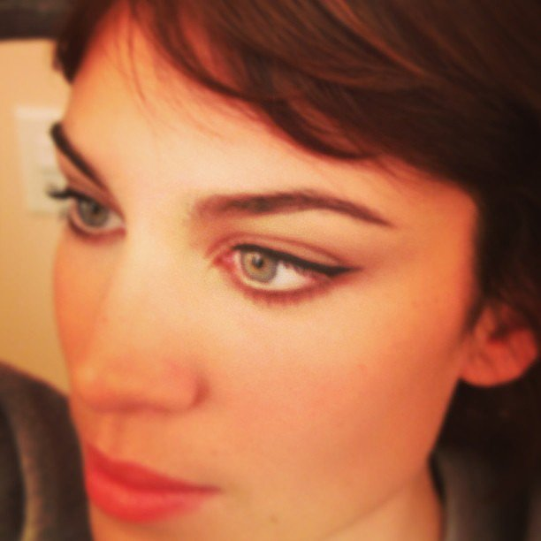 Alexa Chung showed off her gorgeous eyeliner. Source: Instagram user chungalexa