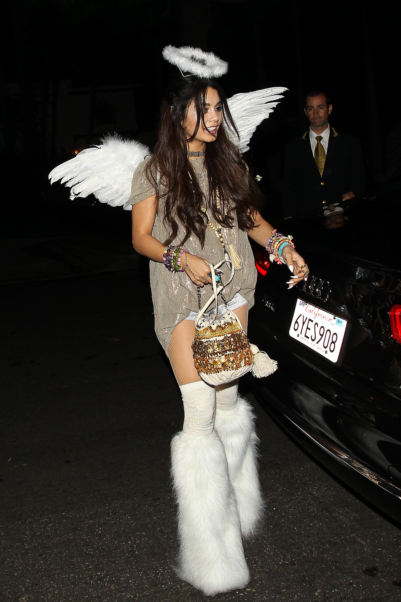 Vanessa Hudgens had an interesting take on an angel for the Casamigos Halloween Party.