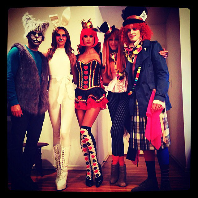 Alessandra Ambrosio dressed up as the Queen of Hearts, channeling Alice in Wonderland with her friends. Source: Instagram user a