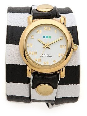 La mer collections Striped Wrap Watch