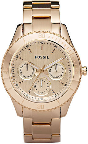 Fossil 'Stella' Rose Gold Multifunction Watch, 37mm