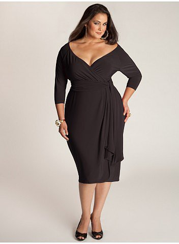 Marcelle Plus Size Cocktail Dress in Black