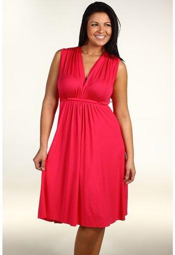 Rachel Pally Plus - Plus Size Sleeveless Caftan Short Dress (Geranium) - Apparel