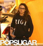 Kristen Stewart Gets Into the Halloween Spirit