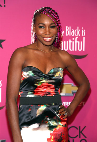Colorful braids were an incredibly bold and beautiful look for Venus Williams.