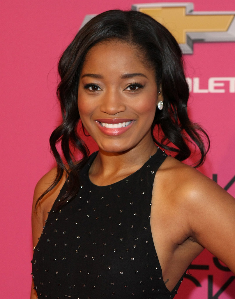 Keke Palmer opted for a piecey, playful updo.