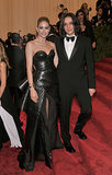 Doutzen Kroes with Olivier Theyskens at the Met Gala in May 2013.