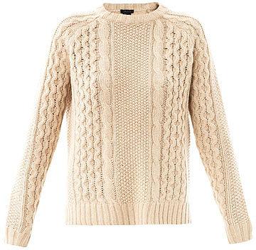 Theory Multi-knit alpaca sweater
