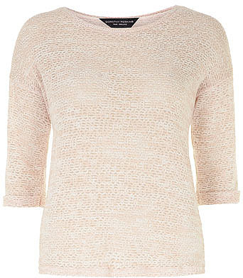 Nude open stitch jersey knit