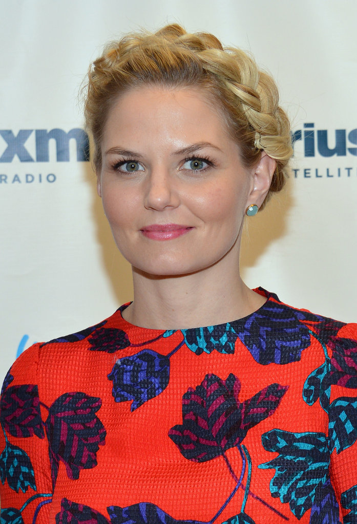 A fully connected crown braid on Jennifer Morrison was a sleek and elegant way to wear plaits this season.