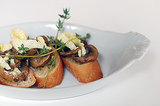 The Appetizer: Mushroom Bruschetta