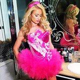 Barbie Paris Hilton's other costume was another famous blonde.  Source: Instagram user parishilton