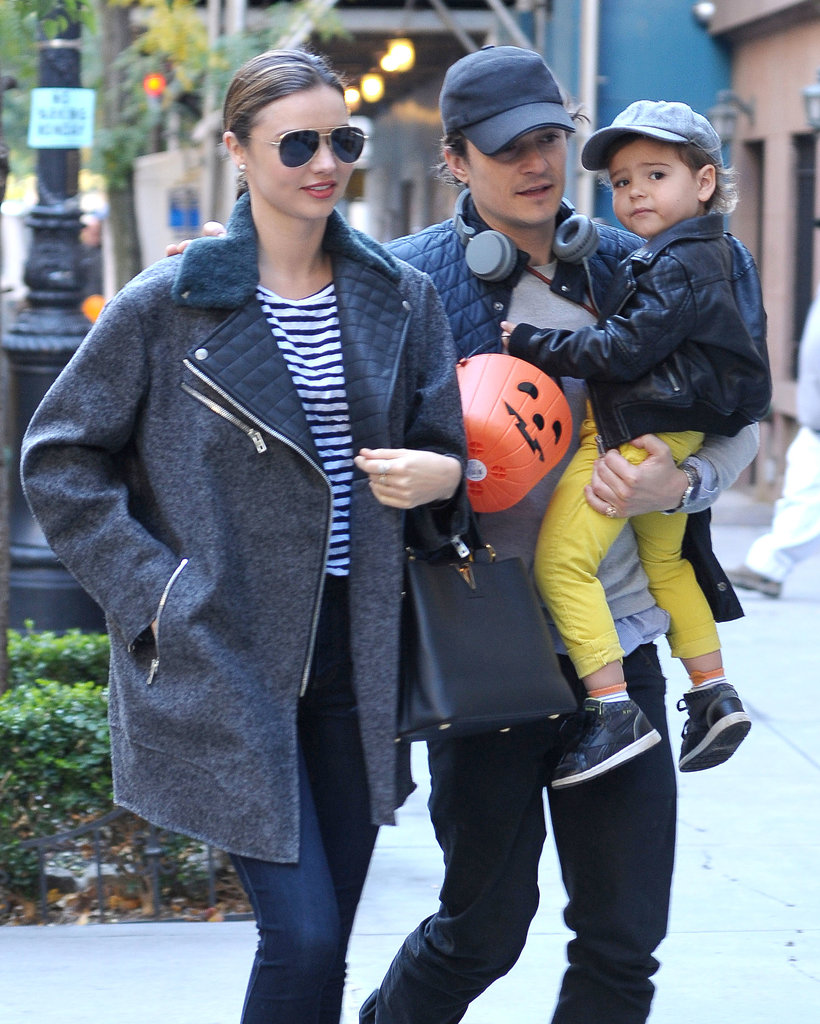 Orlando Bloom and Miranda Kerr took their son, Flynn, out in NYC.