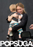 Hilary Duff took her son, Luca, to her sister's book signing in LA.
