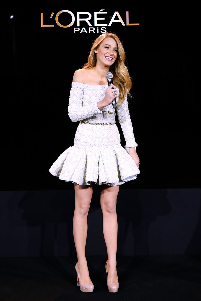 Blake Lively spoke on stage.
